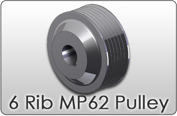 6 rib MP62 supercharger pulley